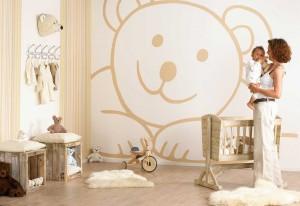 Behang Kinderkamer Grijs : Behang babykamer elegant babykamer behang with behang babykamer