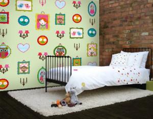 Babykamer Behang Groen : Juffrouw vrolijk behang voor de kinderkamer behang ideëen tips