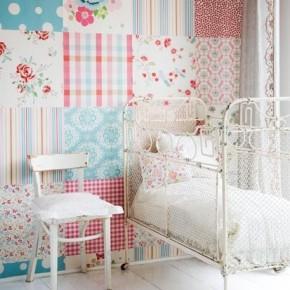 Room Seven behang Patchwork Girls