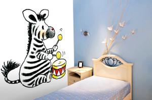 Behang Kinderkamer Zebra : Noordwand behang voor de kinderkamer behang: ideëen tips en de