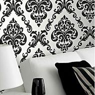 Zwart wit behang barok
