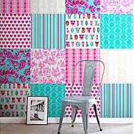 ColorwallXL turquoise en roze