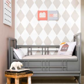 Behang babykamer van Bibelotte