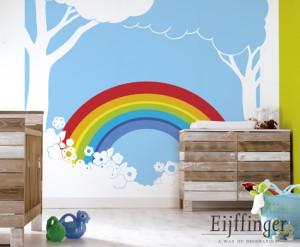 rainbow kleurrijk behang