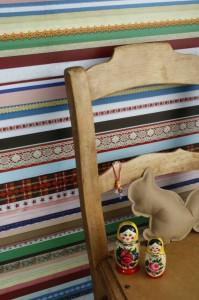 gekleurd behang