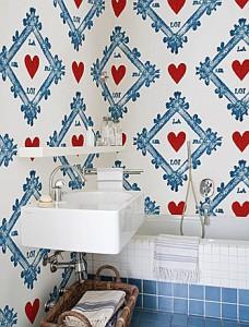 behang voor badkamer