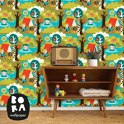 Retro Behangpapier Kinderkamer.Bonte Prints Voor De Kinderkamer Van Bora Behang Ideeen