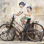 Graffiti met fiets